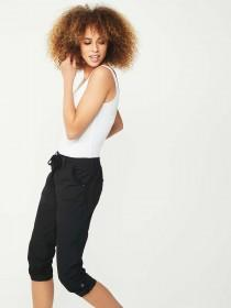 Womens Black Crop Trousers