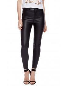 Jane Norman Black Wet Look Coated Skinny Jeans