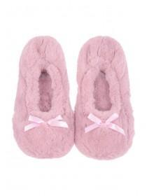 Womens Pink Ballet Style Slippers