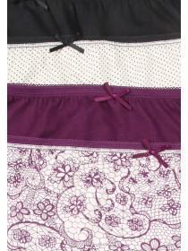 Womens Purple 4pk Full Briefs