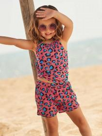 Younger Girls 2pk Leopard Print Shorts