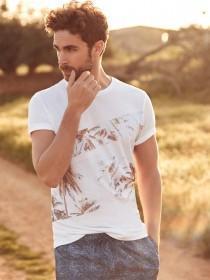 Mens White Palm T-Shirt
