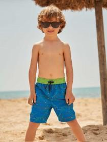 Younger Boys Blue Dinosaur Boardshorts
