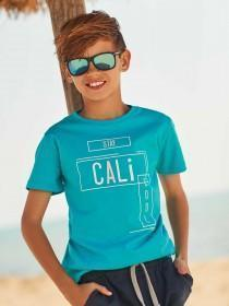 Older Boys Blue Cali Slogan T-Shirt