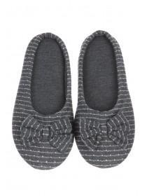 Womens Grey Mule Slippers