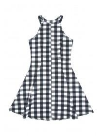 Older Girls Monochrome High Neck Dress