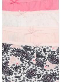 Womens 4pk Printed Shorts