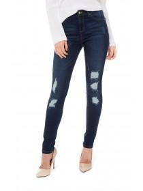 Jane Norman Mid Blue Distressed Skinny Jeans