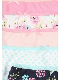 Girls 5pk Patterned Briefs