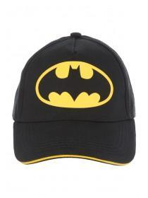 Younger Boys Black Batman Baseball Hat