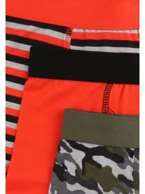 Younger Boys 3pk Orange Trunks