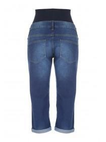 Maternity Mid Blue Cropped Jeans