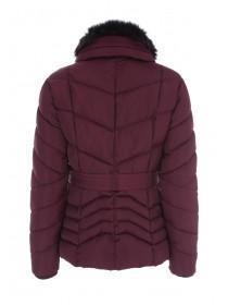 Womens Burgundy Padded Coat