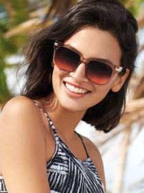 Womens Clear Retro Sunglasses