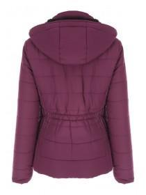 Womens Purple Lined Coat