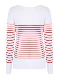 Womens Red Stripe Jumper
