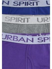 Mens 3pk Purple Trunk Briefs