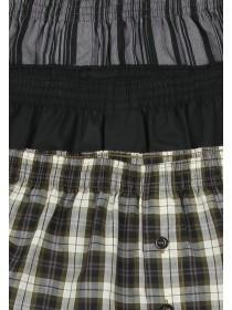 Mens 3PK Charcoal Woven Boxers