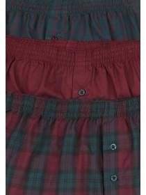 Mens 3PK Teal Woven Boxers