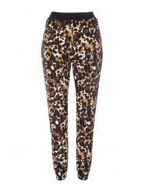 Womens Brown Leopard Print Soft Touch Pants
