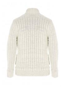 Mens Cream Zip Jumper