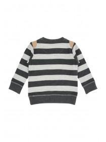 Younger Boys Reverse Stripe Sweater