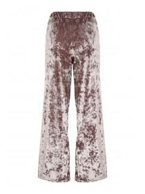Womens Wide Leg Velvet Trousers
