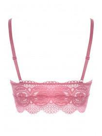 Womens Pink Lace Bralette
