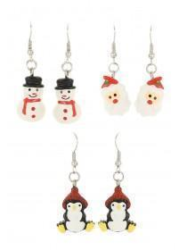 Christmas 3 Pack Novelty Santa Earrings