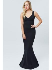 Jane Norman Black Maxi Fishtail Dress