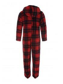 Mens Red Check Onesie