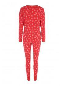 Womens Long Sleeve Bear Pyjamas