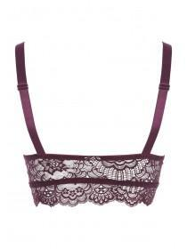 Womens Padded High Neck Lace Bra