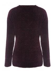Womens Cherry Red Chenille Jumper