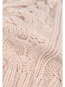 Womens Pink Lurex Beret