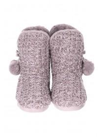 Womens Mocha Slipper Boots