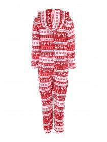 Womens Red Christmas Onesie