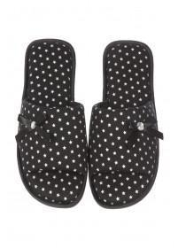 Womens Black Basic Spa Slipper