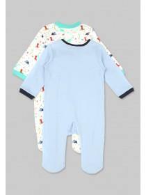 Baby Boys 2pk Dinosaur Sleepsuits