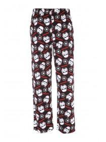 Mens Black Star Wars Lounge Bottoms