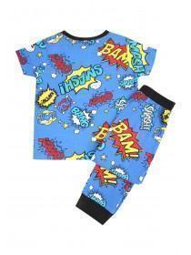Boys Blue Brushed Pyjamas