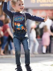 Younger Boys Blue Washed Jean Braces