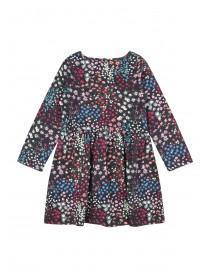 Younger Girls Dark Blue Spot Dress