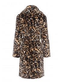 Womens Leopard Print Dressing Gown