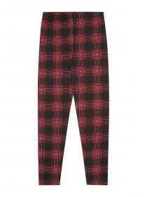 Older Girls Red Check Leggings