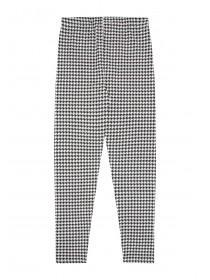 Younger Girls Black Dogtooth Leggings