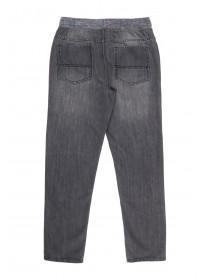 Older Boys Grey Pull On Biker Jeans