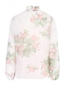 Womens Floral Layered Chiffon Blouse