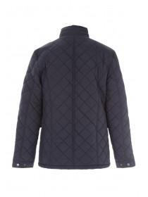 Mens Dark Blue Quilted Jacket