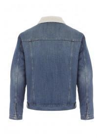 Mens Blue Lined Denim Jacket